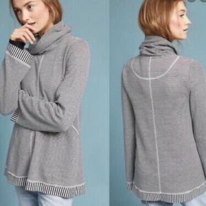 ANTHROPOLOGIE MAEVE TAL COWL NECK STRIPED SWEATER